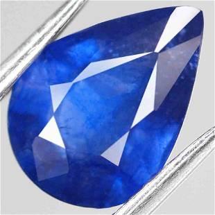 2,47 Natural Blue Sapphire Pear Cut