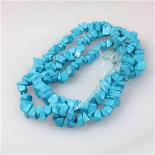 36.75 Ctw Natural 167 Turquoise Drilled Unshaped Beads