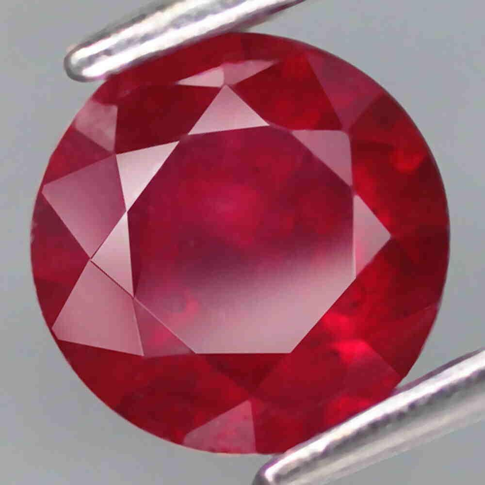 1,55 cts Natural Round Blood Red Ruby