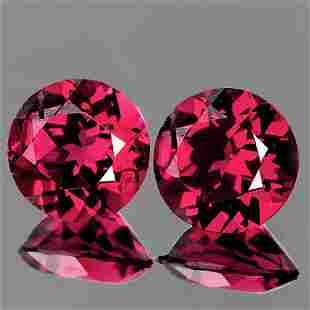 5.00 mm Round 2 pcs AAA Luster Fire Natural Raspberry