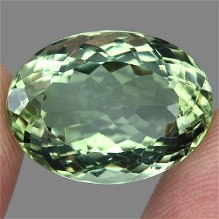 20.31ct 21x15mm Oval Cut 100% Natural Top Rich Green