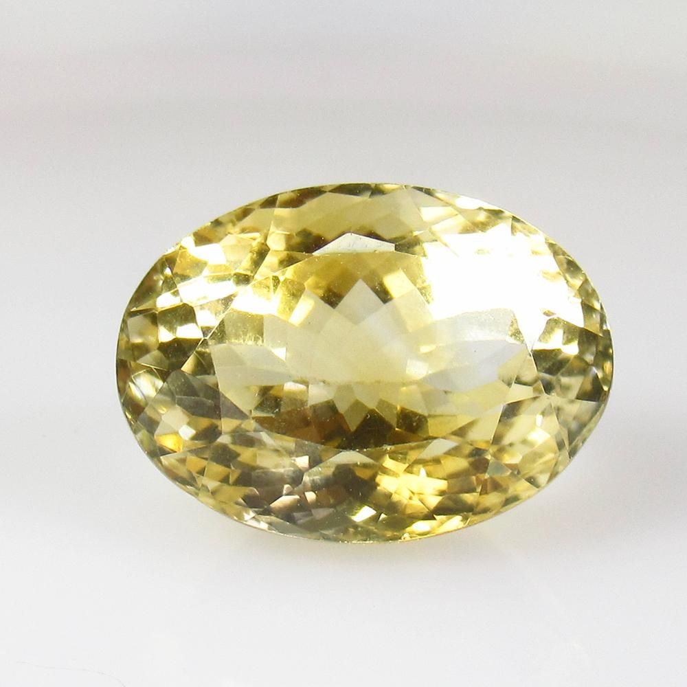 20.00 Ctw Natural Citrine Oval Cut