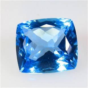 11.94 Ct Natural Blue Topaz Cushion Cut
