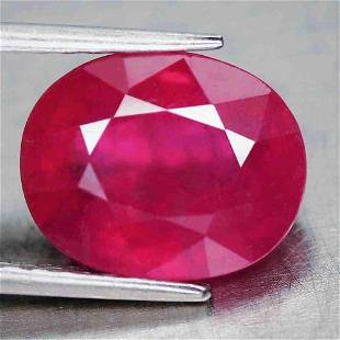 3,05 cts Natural Oval Red Ruby