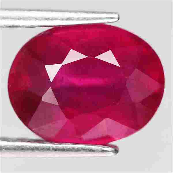 2,98 cts Natural Oval Blood Red Ruby