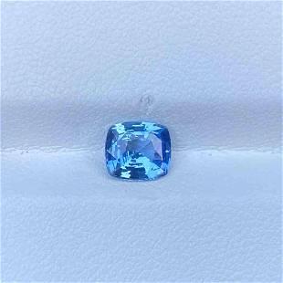 Natural Unheated Blue Sapphire 1.41 Cts Cushion Cut Sri