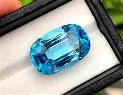 Swiss Blue Topaz Loose Gemstone - Electric Blue Color