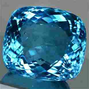 110.61 cts Natural Cushion Blue Topaz