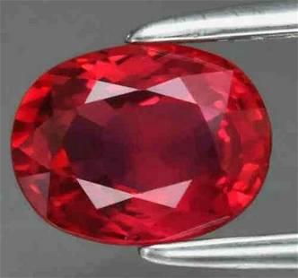 Natural Vivid Red Burmese Ruby 1.053ct VS