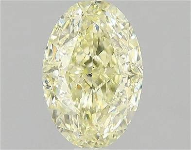1.51 Carat White(Y) Color Natural Oval Diamond Loose