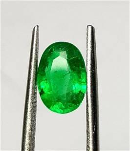 Vivid Green Oval Emerald - 2.10 Carats