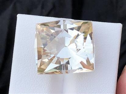 27.85 carats natural fancy cut topaz gemstone