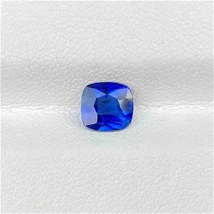 Natural Royal Blue Sapphire 1.13 Cts Square Cushion Cut