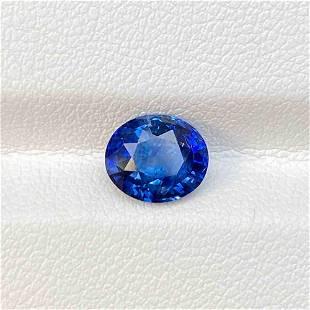 Natural Sri Lanka Blue Sapphire 2.09 Cts Oval Cut Loose