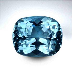 15.91 Cts GIA Certified Clean Blue Liuster Aquamarine