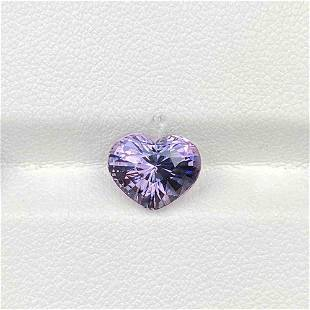 Natural Unheated Lavender Spinel 3.51 Cts Heart Shape