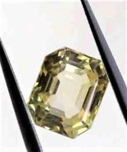Natural Yellow Sapphire Unheated IGI Report 1,61 ct