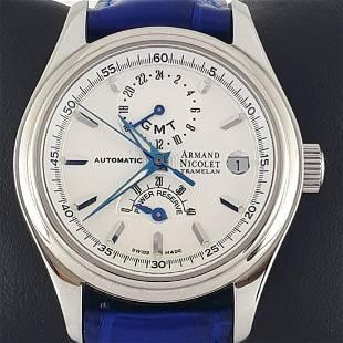 Armand Nicolet - Tramelan GMT - Ref: AN9034A - Men -