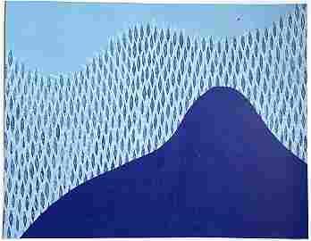 "Julia Chiang- Untitled 2020 screenprint on paper 20"" x"