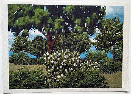 Regula Dettwiler lithograph Baume(Trees) in Summer