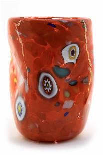 """Murano glass Goblet """" Goto de Fornasa """" signed"""