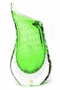 Murano glass Submerged vase signed