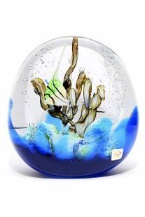 Murano glass Aquarium sculpture signed