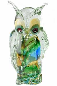 """Murano glass Sculpture submerged """"Owl†signed"""