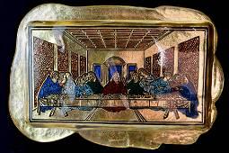"""Murano glass bas-relief """" Ultima cena """""""