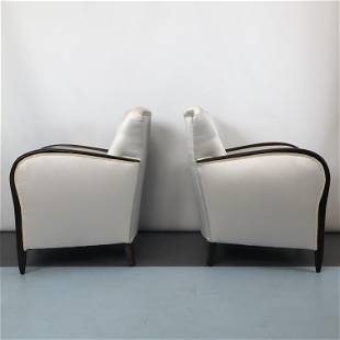 Vintage Paolo Buffa style Armchairs, Italy 1940s