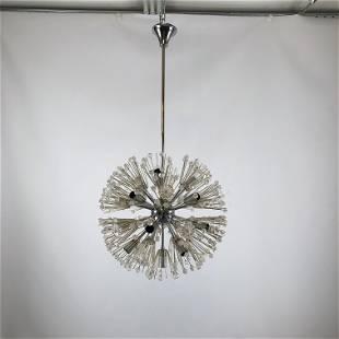 Emil Stejnar, chrome and glass sputnik from 70s