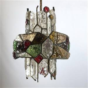 Poliarte, Italian brutalist iron and cut glass