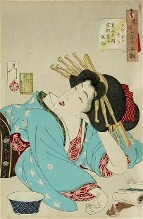 Tsukioka YOSHITOSHI : Looking relaxed: The appearance