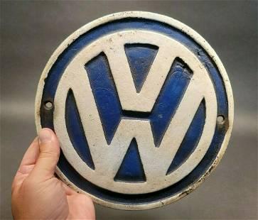 Cast Iron VW Volkswagen Sign Plaque
