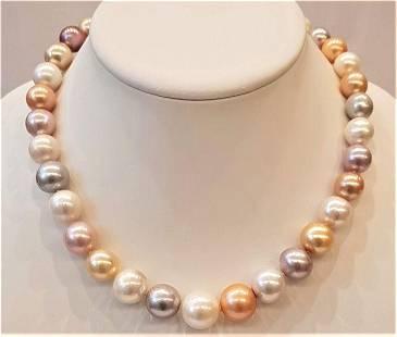 11x15mm Multi Edison Pearls - Necklace
