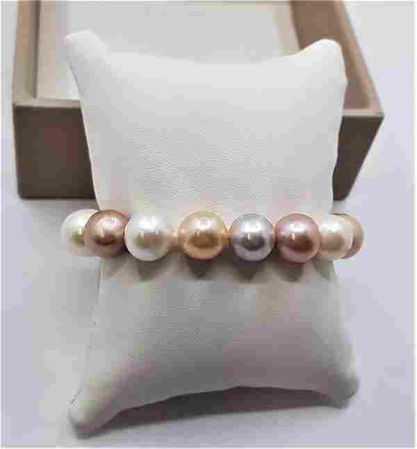 11x14mm Multi Edison Freshwater pearls - Bracelet