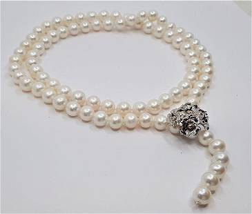 10x11mm White Cultured Freshwater pearls - Necklace