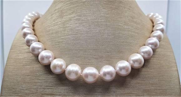 10x13mm Round White Edison Freshwater Pearls - 925