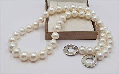 9x10mm Freshwater pearls - Necklace