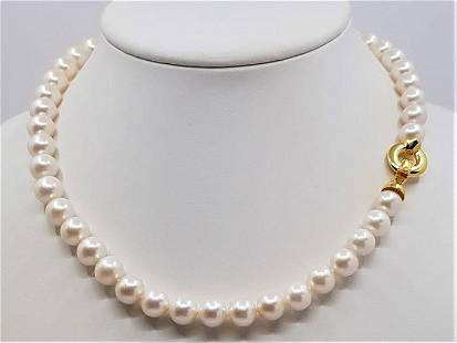 9x10mm Lustrous Freshwater Pearls - 925 Silver -