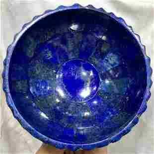 0.2 kg Hand Crafted Lapis Lazuli Bowl Round Shape