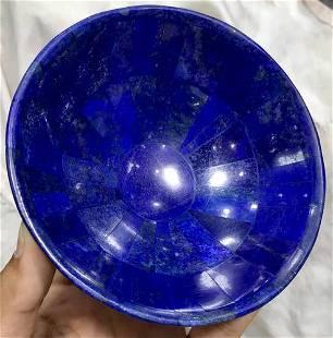 0.3 kg Hand Crafted Lapis Lazuli Bowl Round Shape