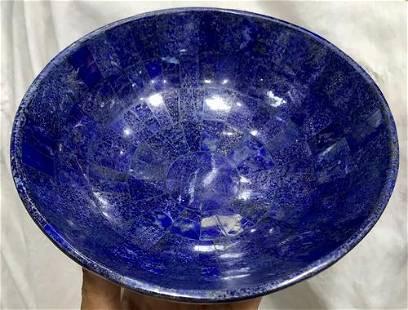 0.7 kg Hand Crafted Lapis Lazuli Bowl Round Shape