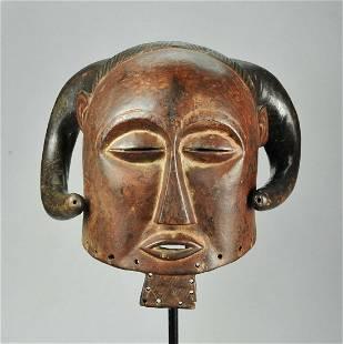Rare LUBA Anthropo Zoomorphic Buffalo Mask Congo Drc