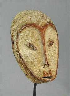 Superb ! LEGA Idimu Bwami wood Mask Congo Drc African