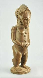 Large Baule Blolo Bian or Asie Usu statue figure