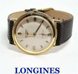 Vintage 14k LONGINES Mens Winding Watch Cal 23Z 1960s*