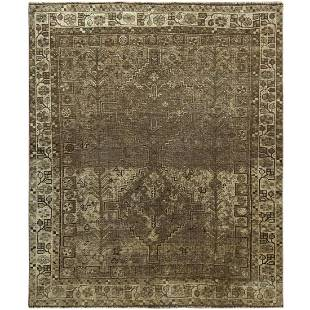 Pure Wool Modern Brown Persian Shiraz Abrash Hand
