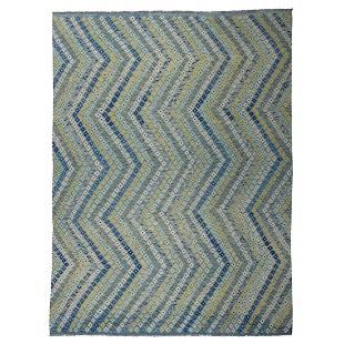 Colorful Afghan Kilim Pure Wool Hand Woven Oriental Rug