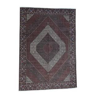 Handmade Oversize Persian Bijar 400 Kpsi Wool And Silk